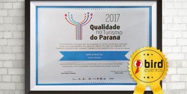 Selo de Qualidade no Turismo do Paraná